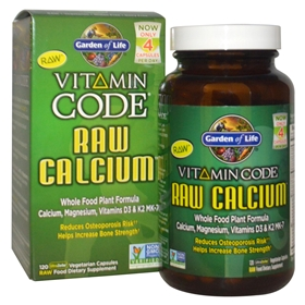 Garden of Life Vitamin Code Raw Calcium, 120 Vegan Capsules