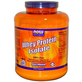 NOW Whey Protein Isolate, 5lb, Unflavored