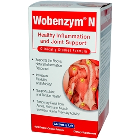 Garden of Life Wobenzym N, 400 Tablets